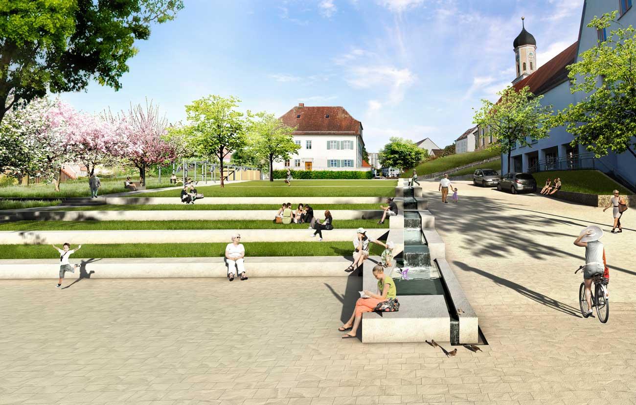1 Preis / WB - Neugestaltung Rathausumfeld | Zusmarshausen