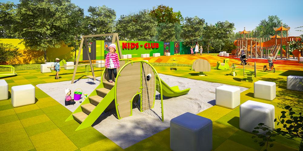 Visualisierung & Konzeptstudie Kinderspielplatz | München
